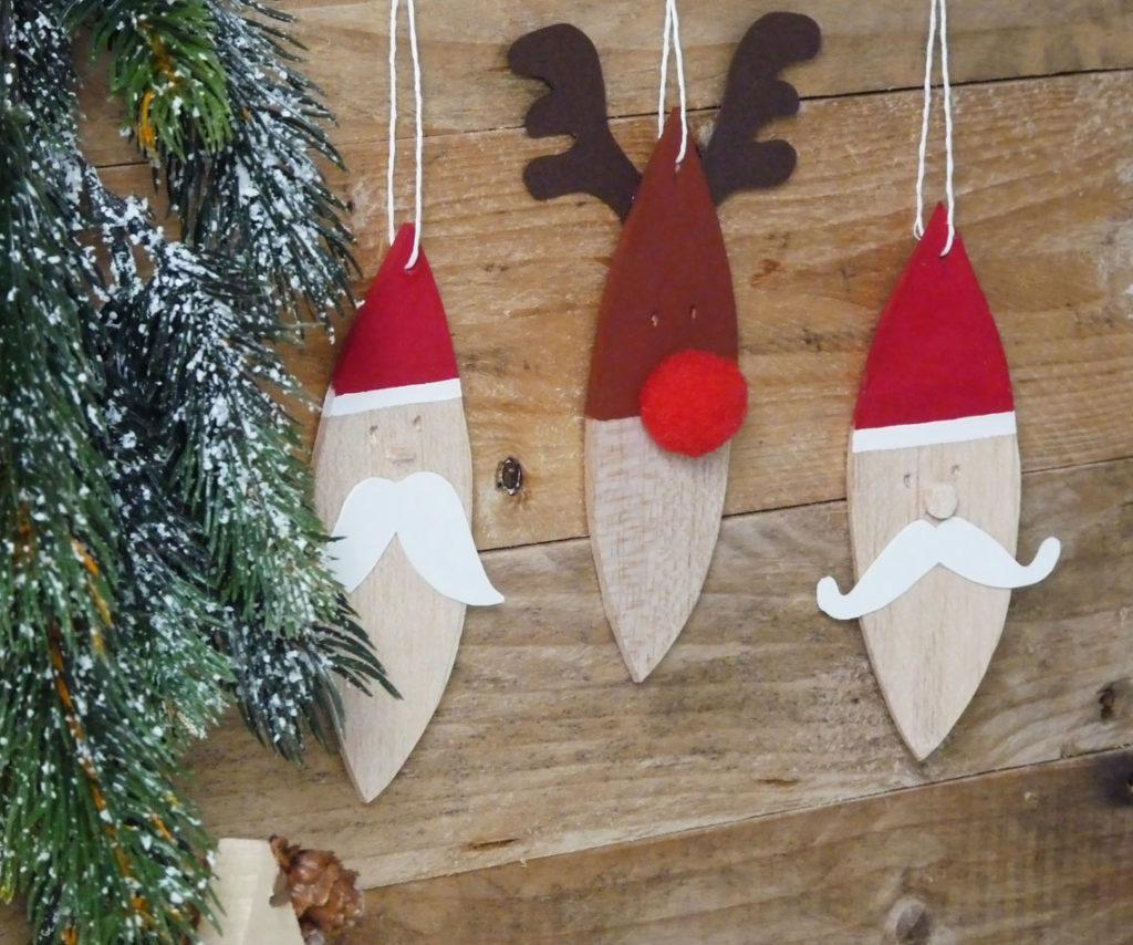 decorations de noel en balsa pour enfants DIY