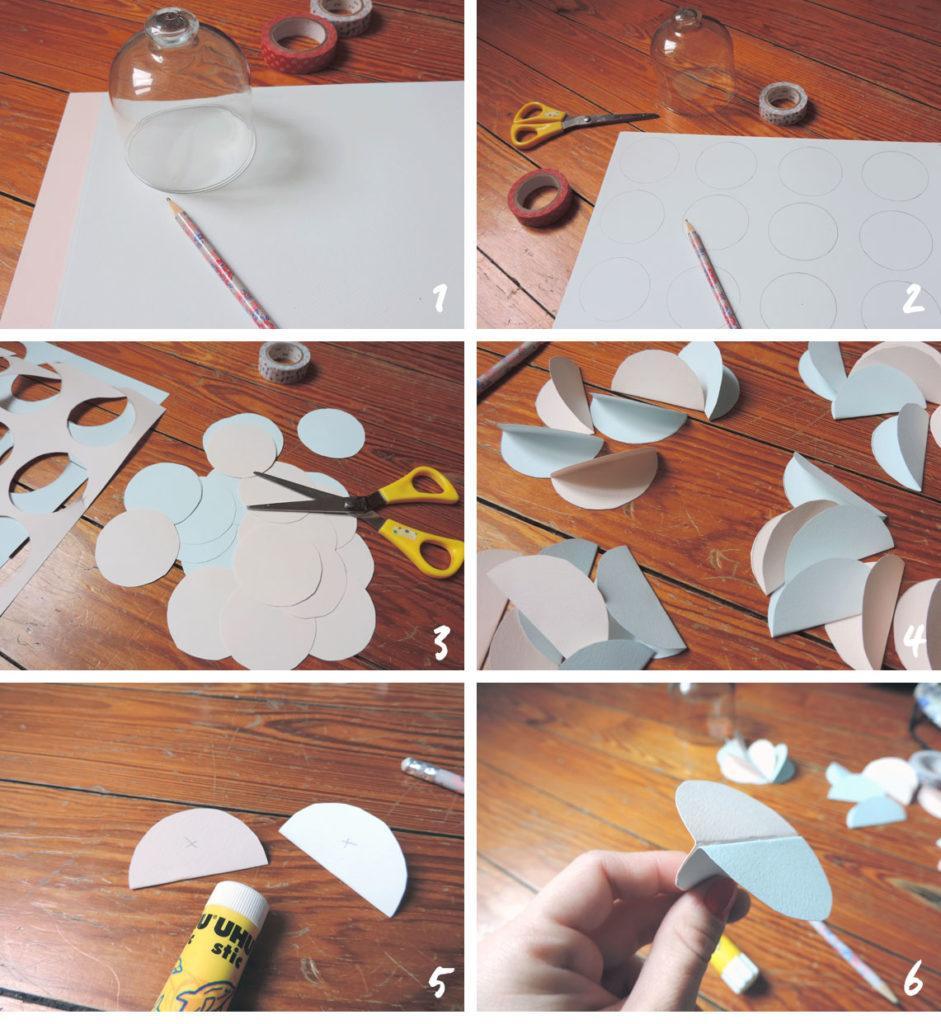 partie 2 Steps DIY origami boules