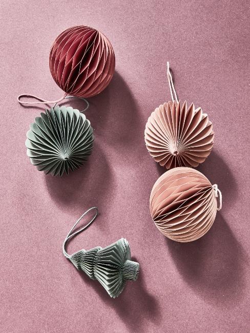 suspensions de Noël style origami