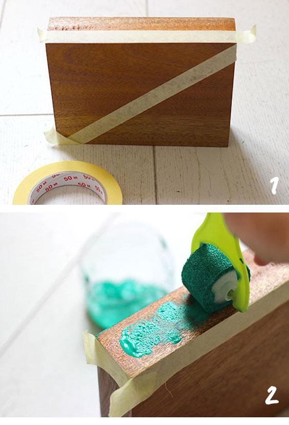 step by step diy peindre support soliflore