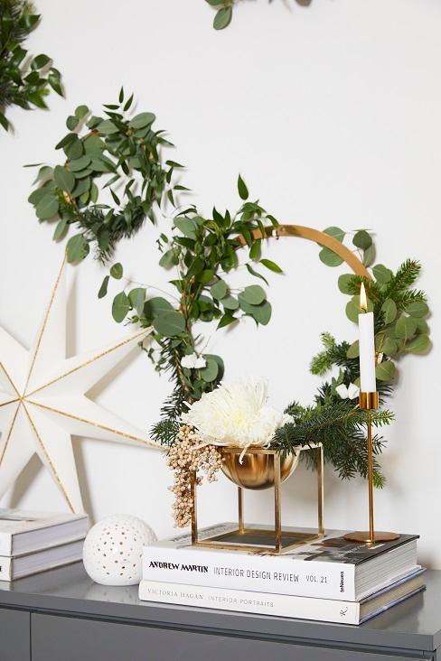 couronne vegetale et etoile de noel