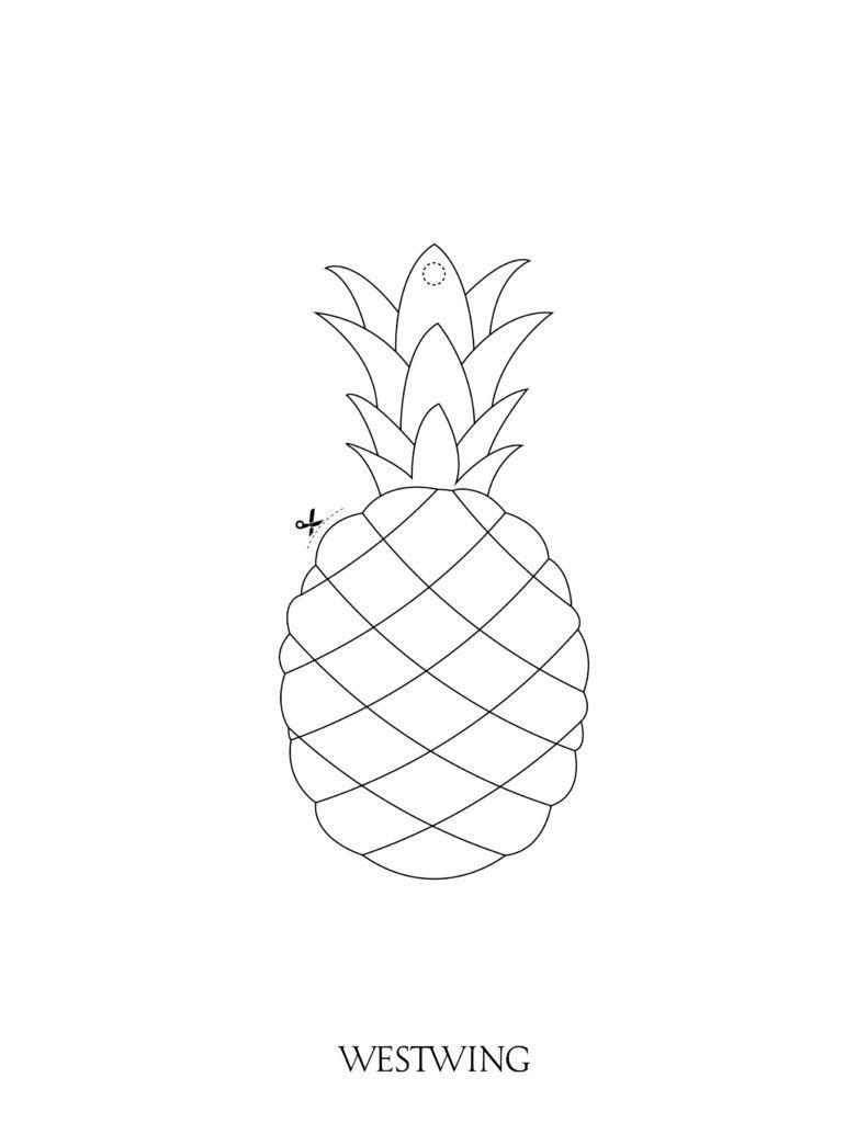 suspension DIY ananas