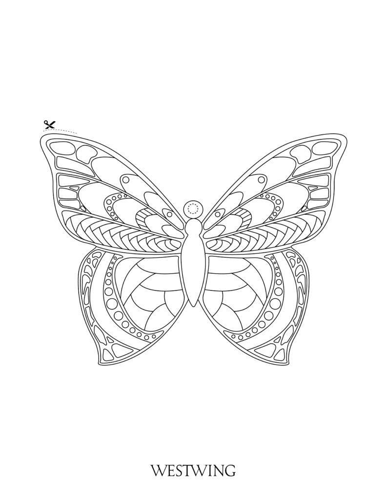 suspension DIY papillon