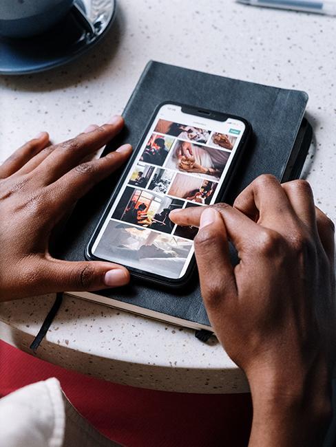 application photo sur smartphone