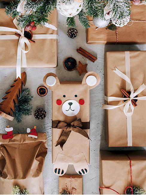 emballage cadeau original en forme d'ours