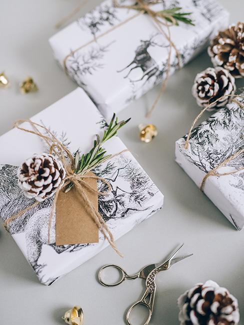 paquet cadeau avec étiquette et ficelle