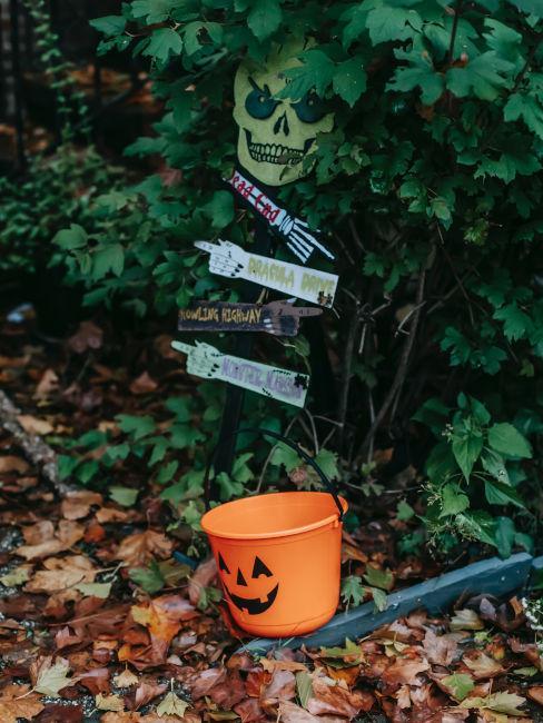 decorazioni per festa di halloween in giardino