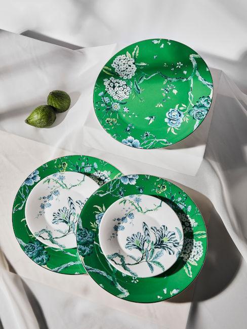 servizio porcellana verde