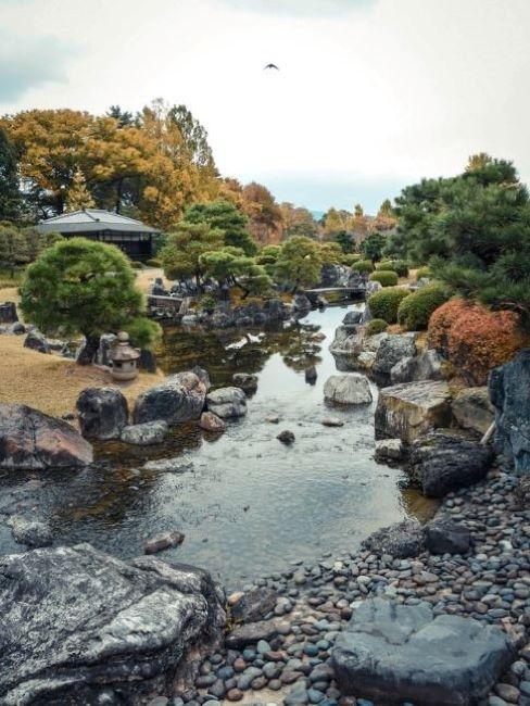 giardino giapponese sassi