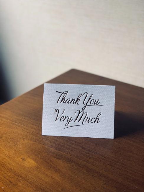 biglietti ringraziamento matrimonio