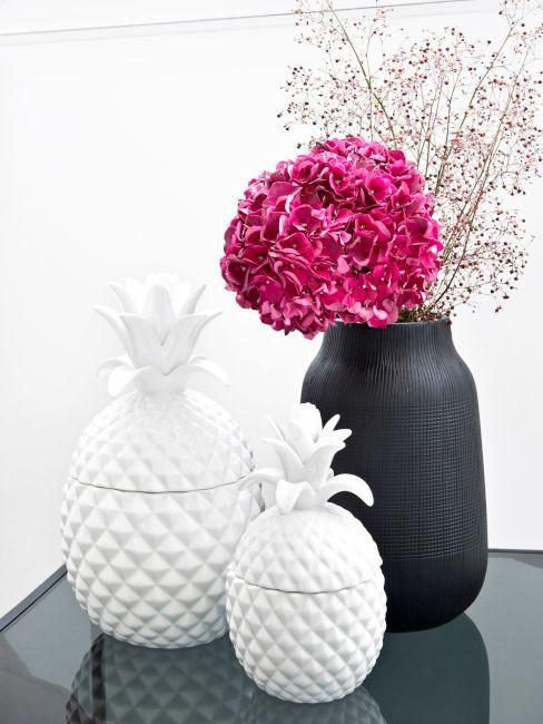 Decoro ananas in ceramica