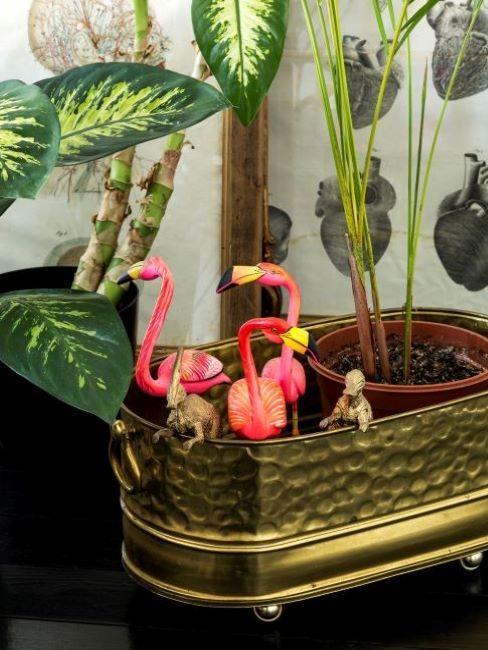 decorazioni tropicali fenicotteri