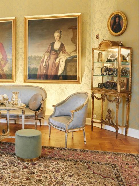 Salotto in stile barocco