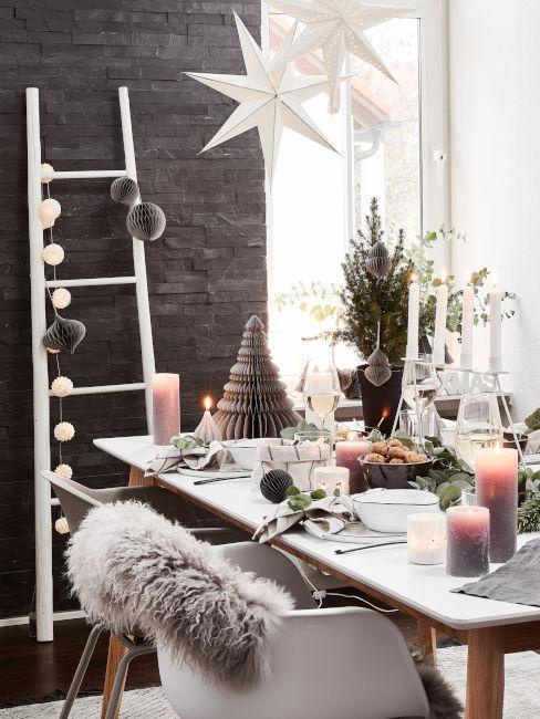 tavola apparecchiata stile invernale