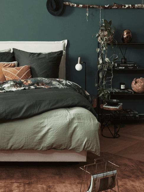 Camera da letto in verde