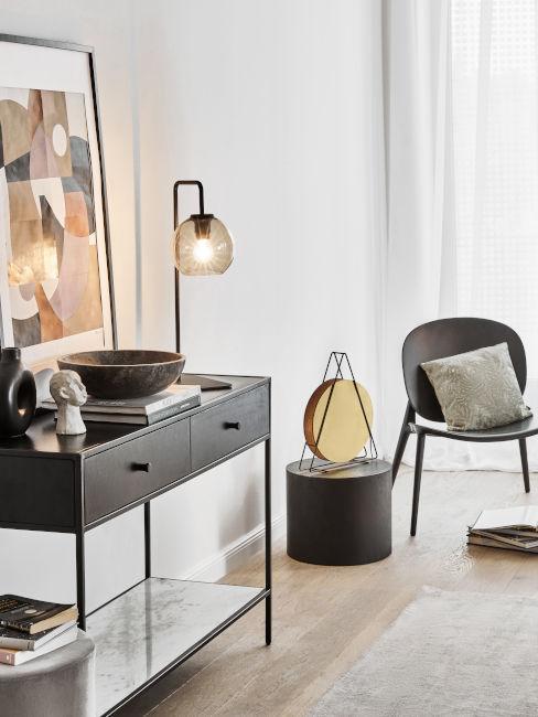 lampada stile industrial colore nero