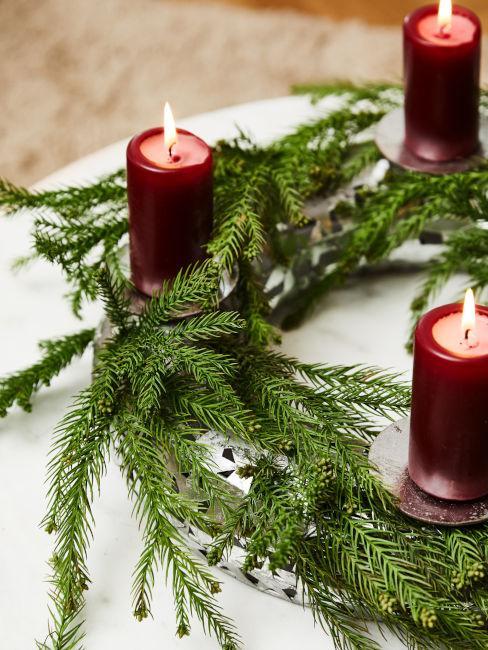 candele natalizie fai da te
