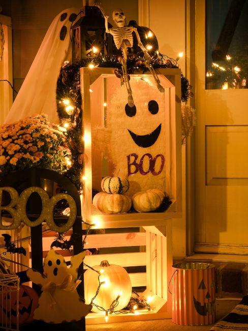 decorazioni vialetto ingtresso tema fantasmi