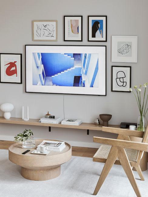 decorazioni parete soggiorno
