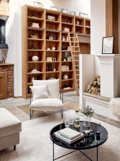 libreria e scaffali soggiorno