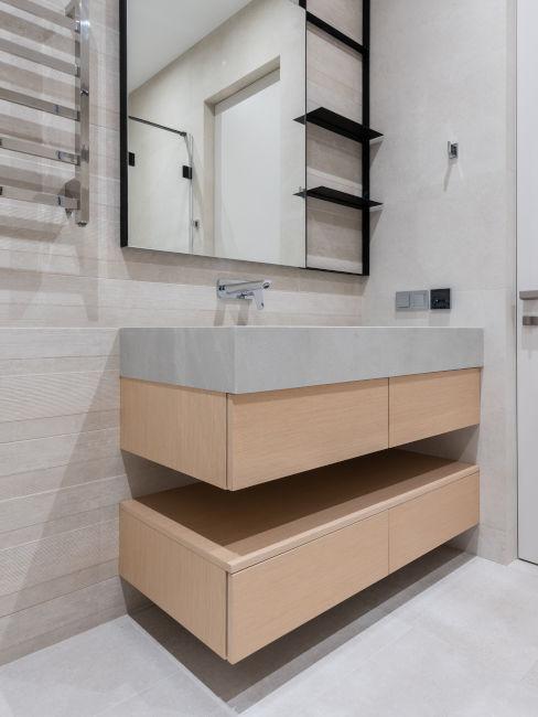 mobile bagno moderno in legno