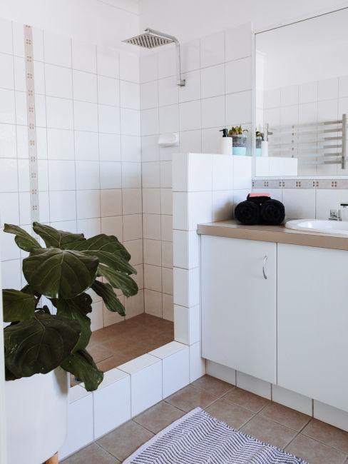 doccia bianca con ingresso libero