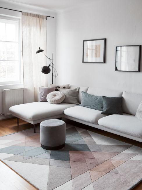 soggiorno moderno con colori neutri