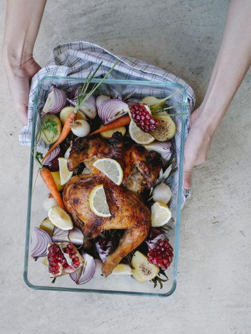 pollo con verdure al forno idee cena