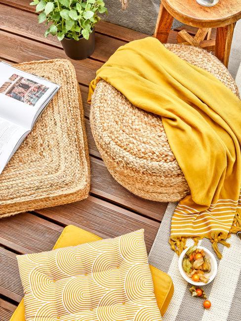 tessili esterno color giallo limone