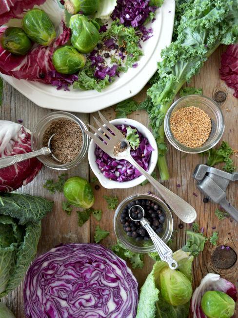 ingredienti per insalate invernali