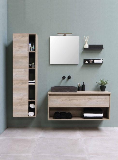 mobili in legno per bagno moderno
