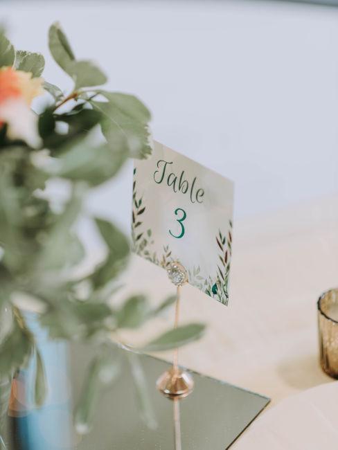 numero tavolo per matrimonio tema floreale