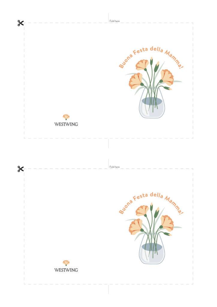 Biglietto con fiori per la mamma