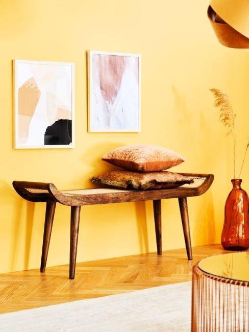 abbinamento colori pareti giallo