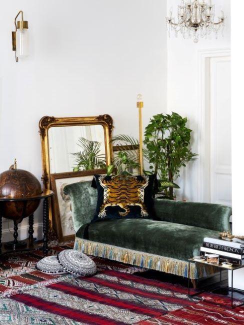stile eclettico divano
