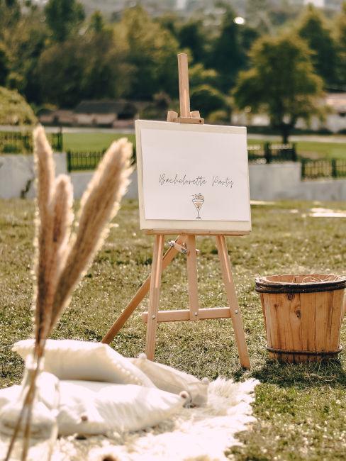 location matrimonio con dettagli boho