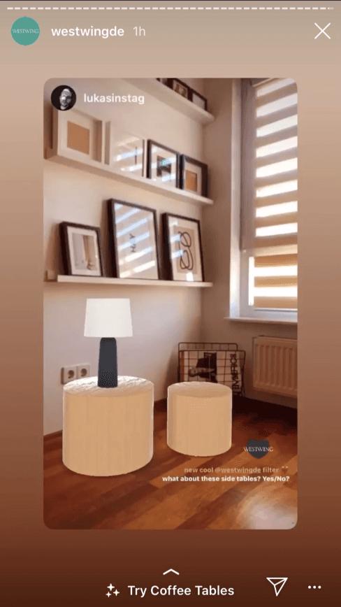realtà aumentata instagram