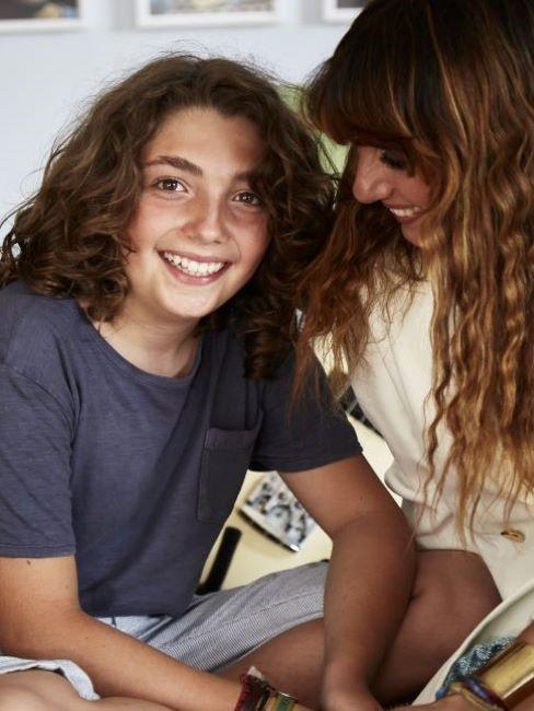 Paola e il figlio Timo