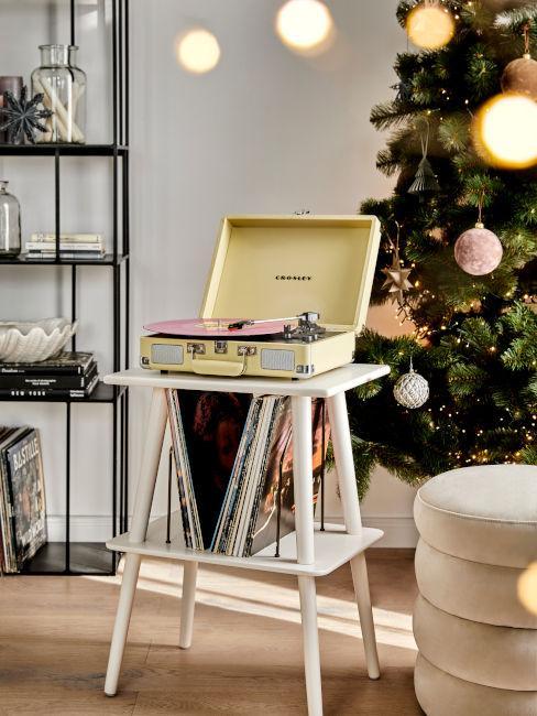 vinile con dischi per musica natalizia