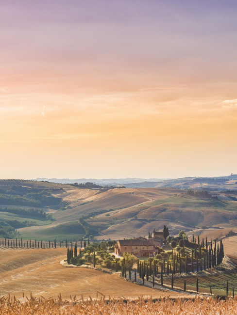 panorma colline italiane