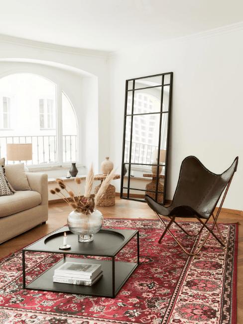 salotto moderno con poltrona in cuoio