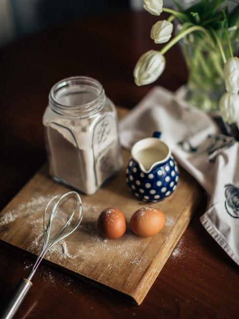 ingredienti pasta frolla con planetaria
