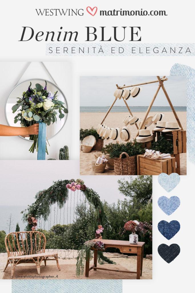 moodboard Denim Blue matrimonio