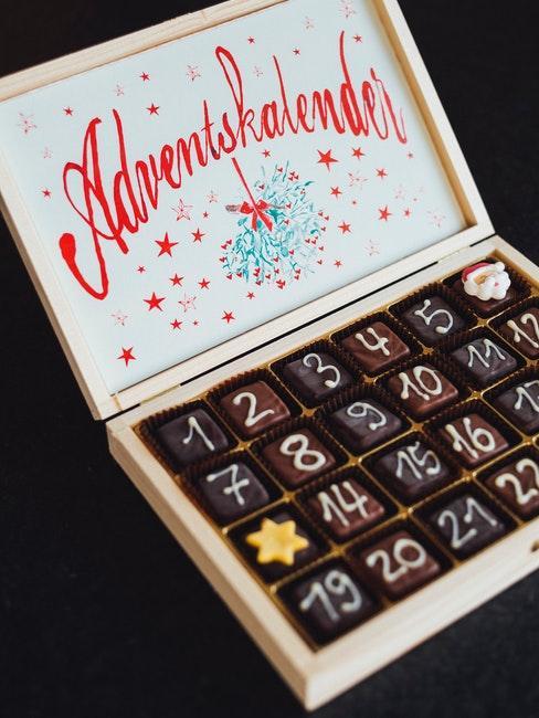 calendario avvento fai da te cioccolata