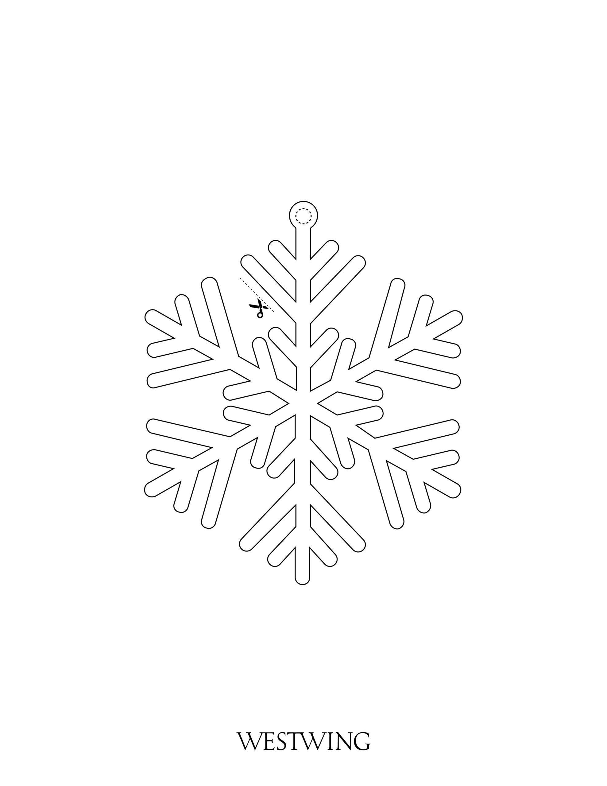 fiocco di neve da colorare