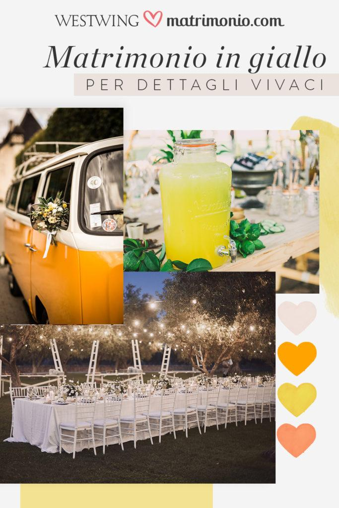 moodbard matrimonio in giallo