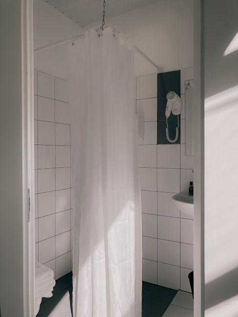 Tenda da doccia bianca