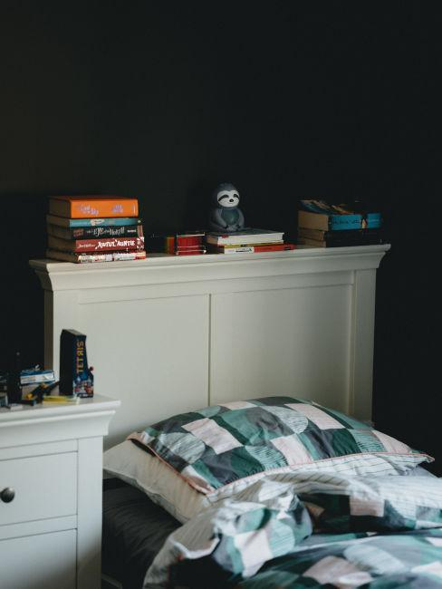 Pareti nere in camera da letto