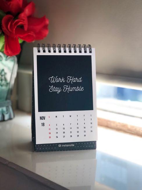 calendario fai da te da tavolo