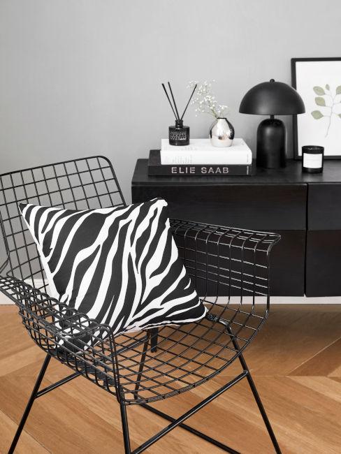 Zebrato bianco e nero